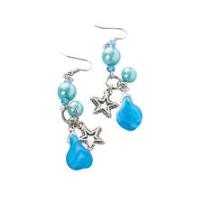 Komplettpackung - Ohrringe, blau