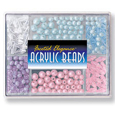 Perlen-Box, Wasserblau oder Pastell
