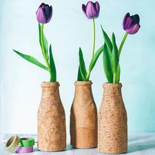 Vase: Näh-Idee aus dem Buch - Nähen mit Korkstoff.