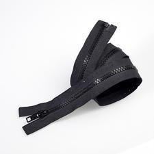 Reissverschluss, Schwarz, 60 cm