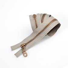 Reissverschluss, Grau, 45 cm