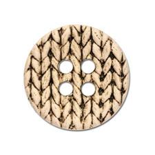 Knopf Strickoptik, Beige, Ø 25mm, 2 Stück Knopf Strickoptik, 2 Stück
