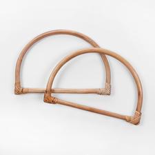 Taschengriffe Halbkreis, Bambus, 2 Stück
