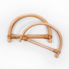 Taschengriffe D-Form, Bambus, 2 Stück