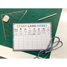 Spiele-Tischset – Stadt, Land, Hobby Stadt, Land, Hobby – Spiele-Tischset