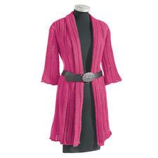 Anleitung 166/0, Long-Jacke aus Clou von Junghans-Wolle