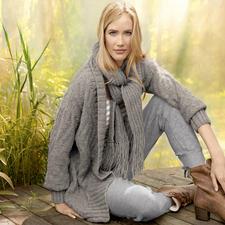 Modell 126/3, Jacke und Schal aus Alta Moda Alpaca von Lana Grossa
