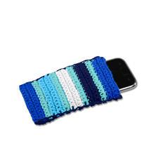 Anleitung 467/5, Smartphone-Hülle aus Baumwollgarn von Junghans-Wolle