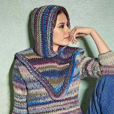 Modell 330/4, Kapuze aus Lei Color Mix von Lana Grossa