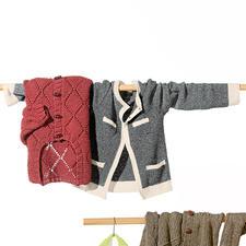 Modell 433/4, Gehäkelte Damenjacke aus Contrato von Junghans-Wolle