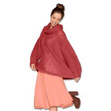 Anleitung 010/5, Oversized-Pullover aus Aerea von Junghans-Wolle