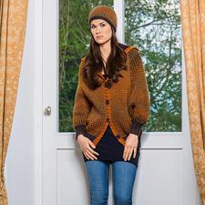 Modell 194/5, Jacke und Mütze aus Gradient von Schoppel-Wolle