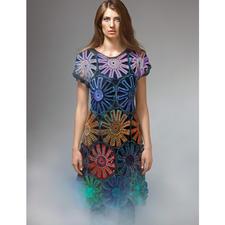 Modell 262/5, Kleid, gehäkelt aus Crazy Zauberball von Schoppel-Wolle