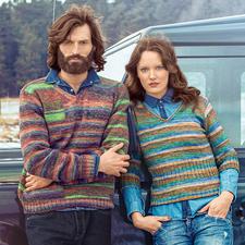 Modell 230/5, Pullover aus Step 6 Irish Rainbow von Austermann®