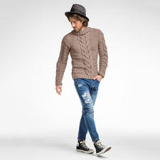 Modell 080/6 Pullover aus Clou von Junghans-Wolle