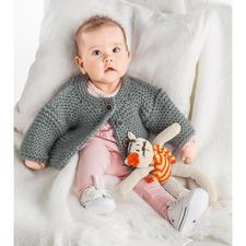 Anleitung 102/6, Baby-Jacke, 2-fädig aus Novata von Junghans-Wolle