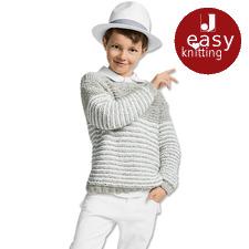 Modell 065/7, Kinderpullover aus Denim von Junghans-Wolle
