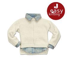 Modell 310/6, Kinderpullover aus Flip von Junghans-Wolle