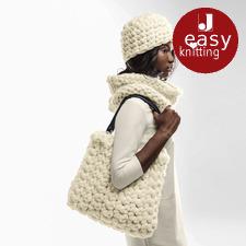 Modell 374/6, Mütze, Loop, Tasche aus Miss Wool von Schoppel-Wolle