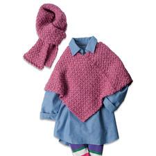 Modell 381/6, Kinderponcho und Schal aus Landlord von Junghans-Wolle