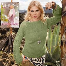 Modell 041/7, Pullover aus Bandana von Junghans-Wolle