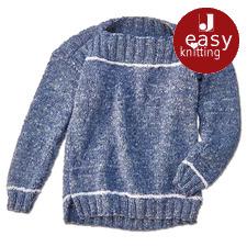 Modell 098/7, Kinderpullover aus Denim von Junghans-Wolle
