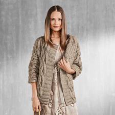 Anleitung 154/7, Damen Jacke aus Alpaca-Cotton von Junghans-Wolle