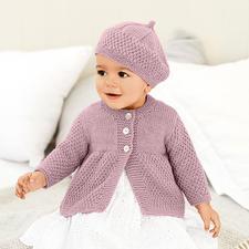 Anleitung 078/8, Baby Mantel mit Mütze aus Baby Classic dk von Rico Design