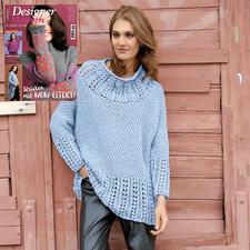 Anleitung 184/8, Poncho-Pullover aus Bandana Wool von Junghans-Wolle