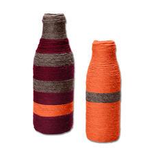 Modell 150/6, Umwickelte Flaschen aus Clou von Junghans-Wolle