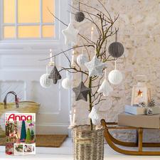 Modell 859/5, Komplettpackung Weihnachtsschmuck aus Katina von Junghans-Wolle