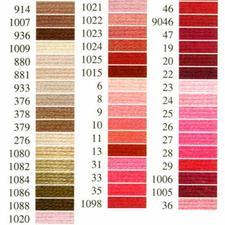 Anchor-Sticktwist braun/rot Sie haben eine riesige Farbauswahl. Alle Garne sind mercerisiert, farb- und lichtecht.