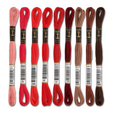 Anchor-Sticktwist Rot/Braun Sie haben eine riesige Farbauswahl. Alle Garne sind mercerisiert, farb- und lichtecht.