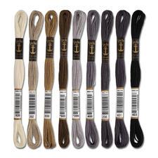 Anchor-Sticktwist Grau/Braun Sie haben eine riesige Farbauswahl. Sie werden aus hochwertiger, reiner Baumwolle nach strengen Qualitätskriterien gefertigt.