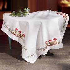 Weihnachts-Eulen, Tischdecke.