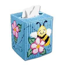 """Box für Kosmetiktücher """"Bienchen & Blümchen"""""""