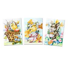 """Grusskarten mit Umschlag """"Ostern"""", 3er-Setpackung Fröhliche Ostern..."""