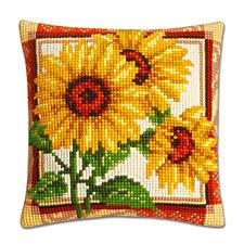 Kreuzstichkissen - Sonnenblume