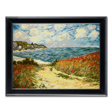 Gobelinbild - Strandweg nach Claude Monet
