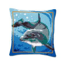 Kreuzstichkissen - Delfin