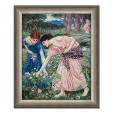 "Gobelinbild ""Gather the Rosebuds"" nach John William Waterhouse Meisterwerke grosser Künstler als Gobelinbild."