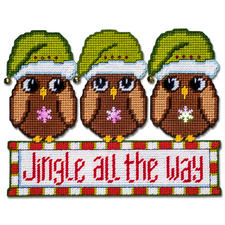 "Wand- oder Türdeko ""Jingle all the way"" Tierische Weihnachten."