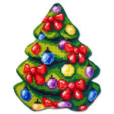 Formkissen - Tannenbaum Fröhliche Weihnachtsmotive zum Sticken.
