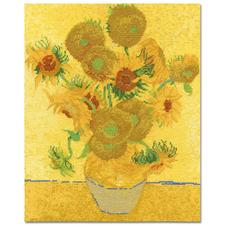 Stickbild - Sunflowers nach Vincent van Gogh