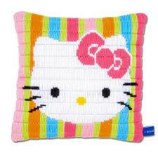 """Kissen """"Hello Kitty"""" Bunte Stickideen für das Kinderzimmer."""