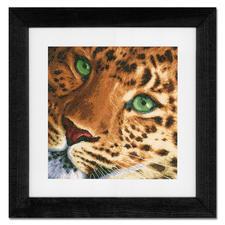 Stickbild - Leopard Wildlife - in den warmen Farben Afrikas.