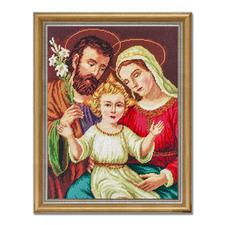 """Gobelinbild """"Heilige Familie"""" Trassierte Gobelins - für besonders plastische Stickbilder."""