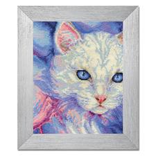 """Stickbild """"Angorakatze"""" Tierisch gut – Alles rund um die Katze."""