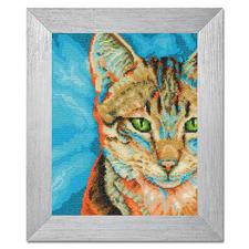 Stickbild - Tabby-Katze