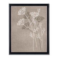 Stickbild im Leinenlook - Blütenzauber Natürlich Leben